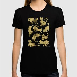 Cat Positions – Gold Palette T-shirt