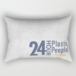24 Hour Plastic People Rectangular Pillow