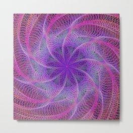 Pink spiral magic Metal Print