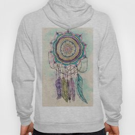 Modern tribal hand paint dreamcatcher mandala design Hoody