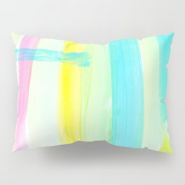 Live Free - Pastel Colors Minimalist Painting Modern Abstract stripe Pillow Sham