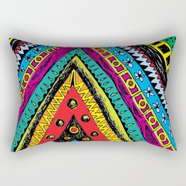 colorful triangle tribal Rectangular Pillow