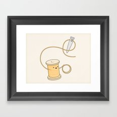 come here you little prick! Framed Art Print