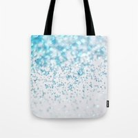 glitter Tote Bags featuring Glitter by Monika Strigel