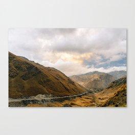 Andean Road Canvas Print