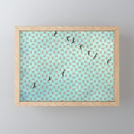 GEESE FLYING PATTERN Framed Mini Art Print