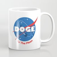 doge Mugs featuring Nasa Doge by Tabner's