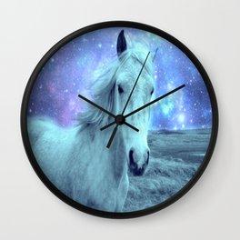 Celestial Dreams Horse Periwinkle Lavender Aqua Wall Clock