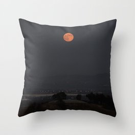 Dawn of the Supermoon Throw Pillow