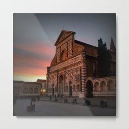Santa Maria Novella Sunset Metal Print