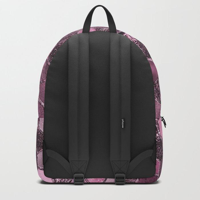 Pink & purple geometric hexagonal elegant & luxury pattern Backpack