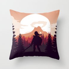 The Legend of Zelda - Orange Version Throw Pillow