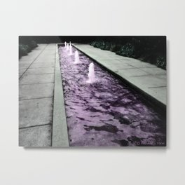 Flowing on Down  Metal Print