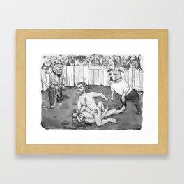 Human Fighting Framed Art Print