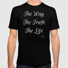 Way, Truth, Life SMALL Mens Fitted Tee Black