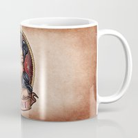 pinup Mugs featuring Amazon Pinup by Tim Shumate