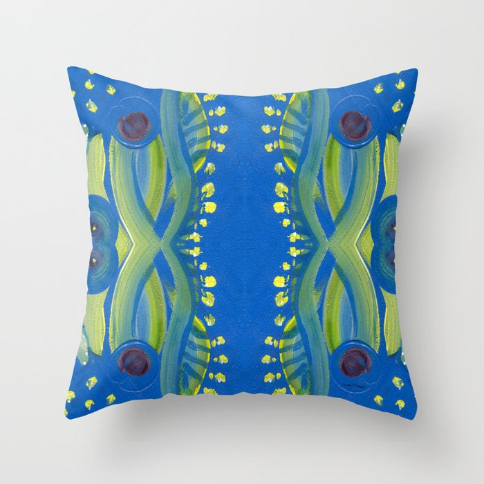 Transitions - Waves of Temporary Tranquility Throw Pillow