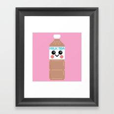 Happy Pixel Milk Tea Framed Art Print