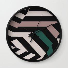 ASDIC/Radar Dazzle Camouflage Graphic Wall Clock