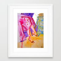 amelie Framed Art Prints featuring Amelie by Laurie Art Gallery