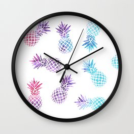 Pineapple Paradise Pattern Wall Clock