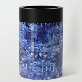 blue abstract Can Cooler