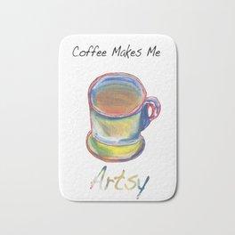 Coffee Makes Me Artsy Bath Mat