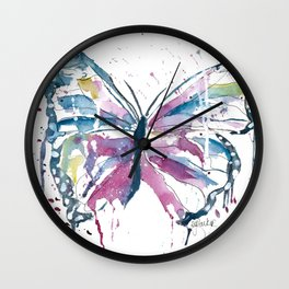 Vibrant Butterfly Wall Clock