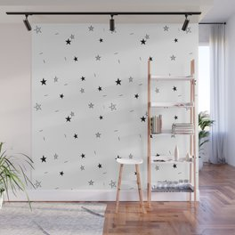 Star Doodle Pattern Wall Mural