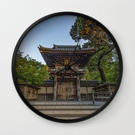 Gate to the Japanese Tea Garden in Golden Gate Park, San Francisco Wall Clock