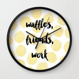 Waffles for Life Wall Clock