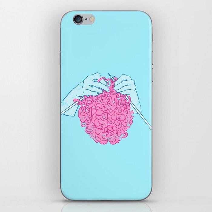 Knitting a brain iPhone Skin