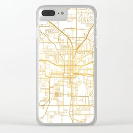 TALLAHASSEE FLORIDA CITY STREET MAP ART Clear iPhone Case