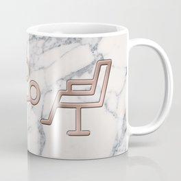 Rose Gold Blow Dryer on Marble Background - Salon Decor Coffee Mug