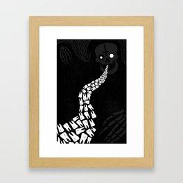 LOOSE TEETH Framed Art Print