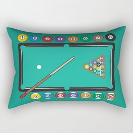 Billiards Table and Equipment Rectangular Pillow