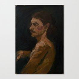 Figure Study, Man with Moustache Canvas Print