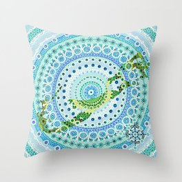 Bermuda Mandala Throw Pillow