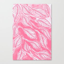 Romantic leaves Canvas Print