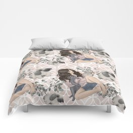 Hygge Girl Pattern Comforters