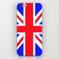 uk iPhone & iPod Skins featuring UK by the power of Mars