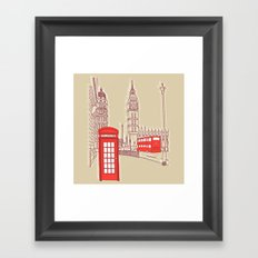 City Life // London Red Telephone Box Framed Art Print