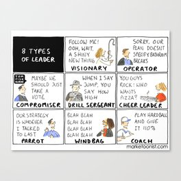 8 Types of Leader Canvas Print