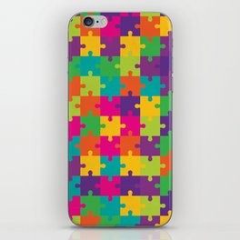 Colorful Jigsaw Puzzle Pattern iPhone Skin