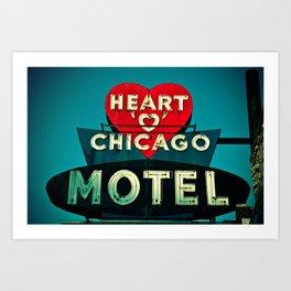 Heart Of Chicago Art Print