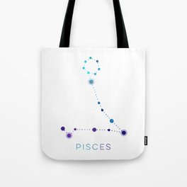 PISCES STAR CONSTELLATION ZODIAC SIGN Tote Bag
