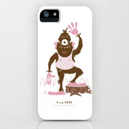Y is for Yeti iPhone Case