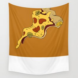 Pizza waves Wall Tapestry