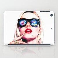 iggy azalea iPad Cases featuring Iggy Azalea Portrait by Tiffany Taimoorazy