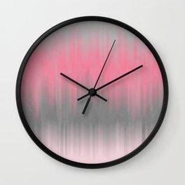 Dip Dye: Soft Pink and Grey Wall Clock